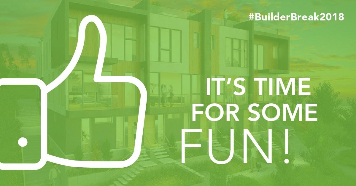 Join us on April 13 for #BuilderBreak2018